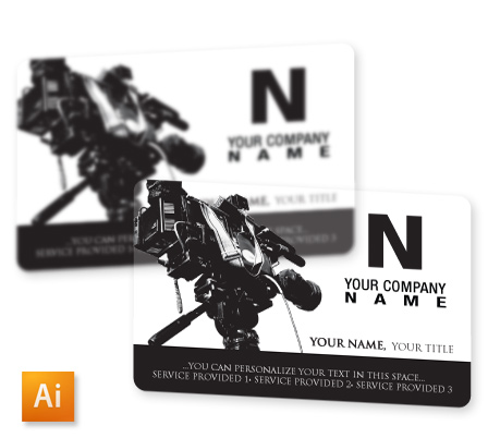 Top 10 free business card design templates of 2014 video camera clear plastic business card template reheart Gallery